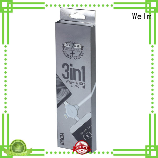 Welm toothbrush Electronics packaging box superior quality for home