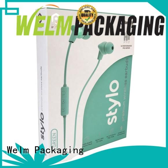 rectangular online packaging supplies highend with pvc window for men