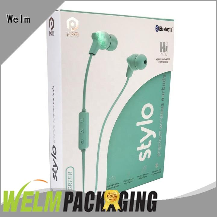 Welm headphone simple packaging company for sale