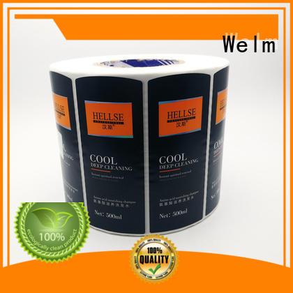 Welm deca oval labels manufacturer for storage