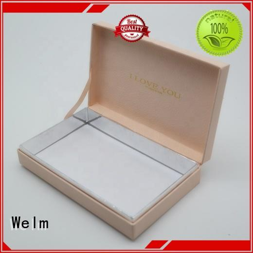 Welm ribbon gift boxes wholesale with window for necklace