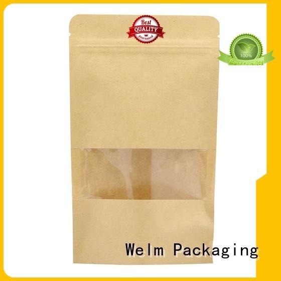 Welm custom packaging ziplock for food