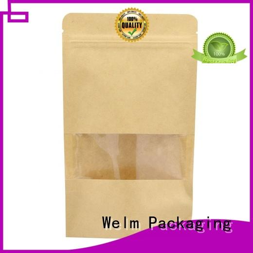 Welm fruit packing printed paper bags with gold logo print for shopping