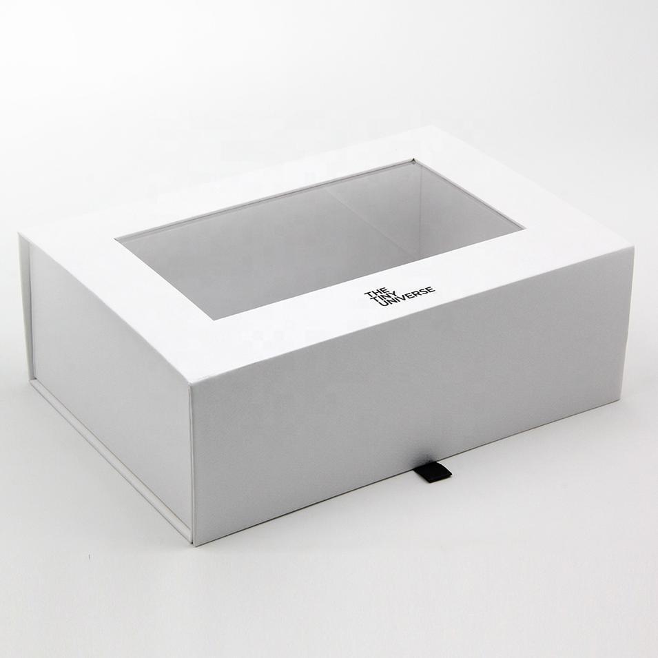Custom Printed Luxury Handmade Magnetic Gift Box With Windows