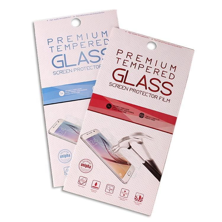 Smartphone Screen Protector Packaging Color Box for Tempered Glass Packing