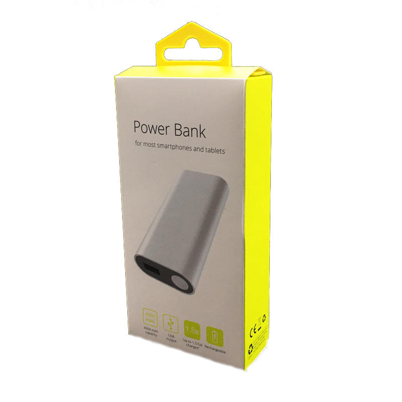 art paper packaging box printed power bank  packaging box