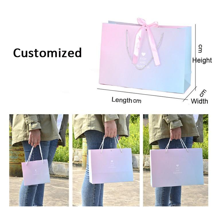 custom 5x7 paper bags packing supply for shopping