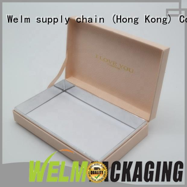 Welm custom printing jewelry gift boxes for necklaces and earrings for business pen