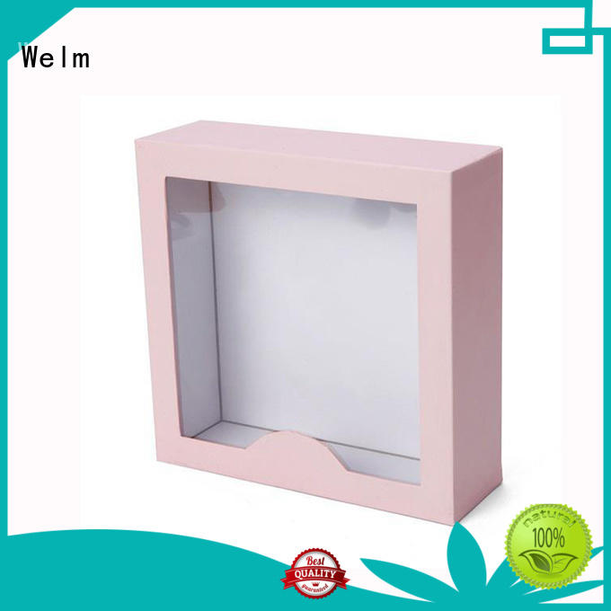 Welm window wholesale packaging boxes supply for gifts