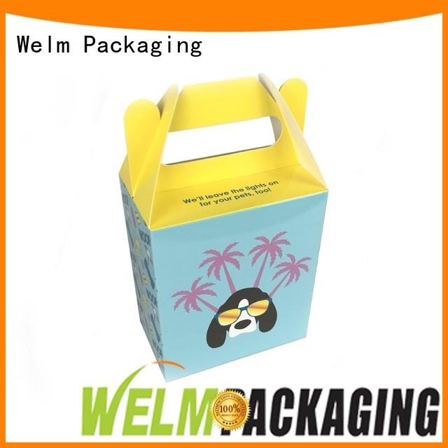 Welm recyclable food gift box packaging factory for food