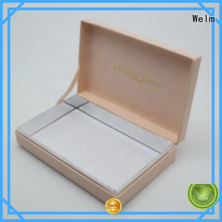 Welm folding small shipping boxes for jewelry logo for dried fruit