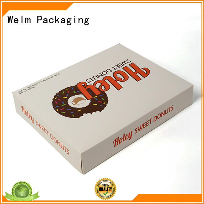 wholesale Food Packaging Box with color printed food grade material for gift Welm