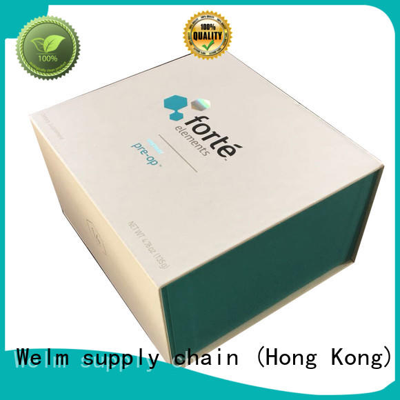 Welm top snap shut gift box logo for gift