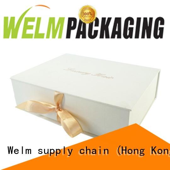 Welm cardboard flip top boxes with magnetic catch for sale