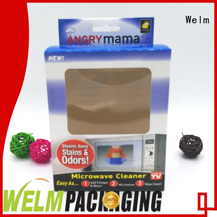 Welm foldable toy box designs with pvc window for toy