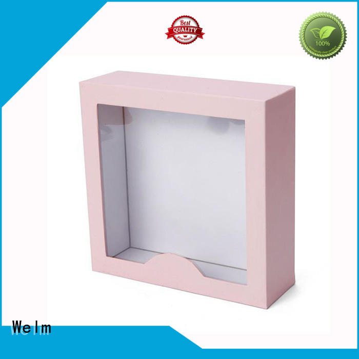 Welm gift boxes wholesale with window for lip stick