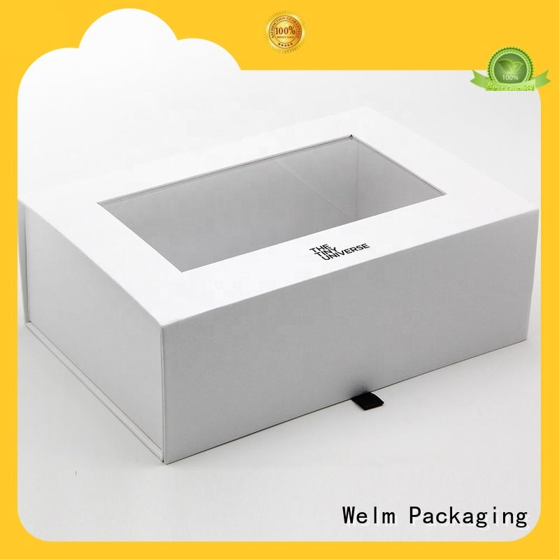 Welm customized magnetic gift boxes with ribbon for sale