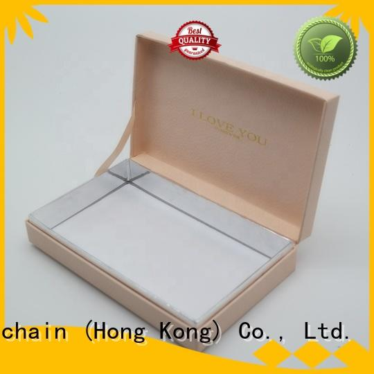 Welm jewelry gift boxes bulk with hot satmp logo for ear ring