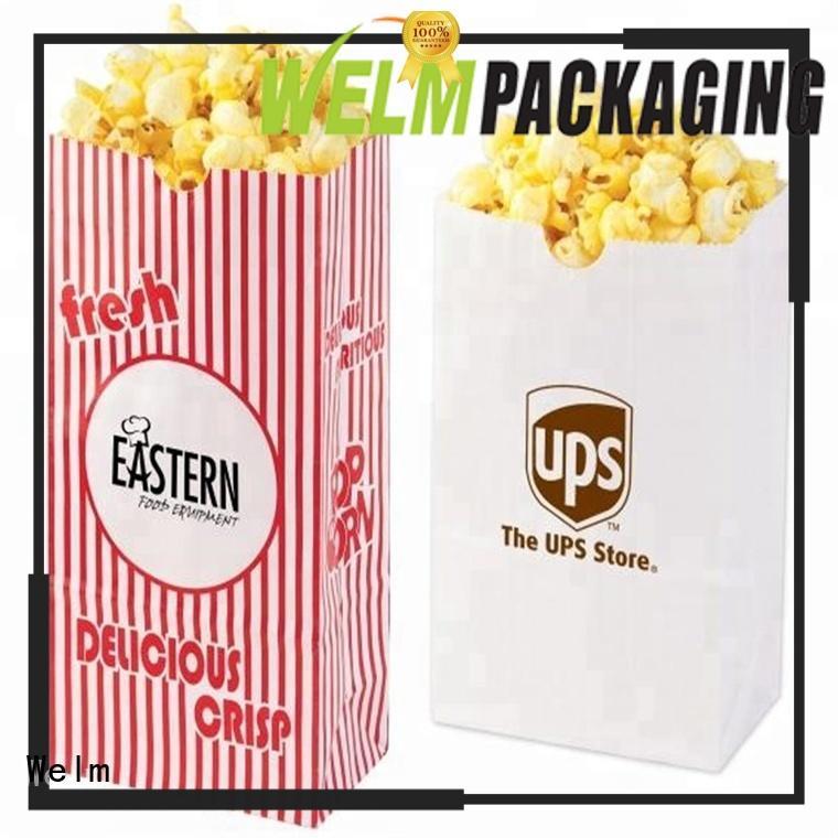 Welm food kraft bags in bulk company for shopping