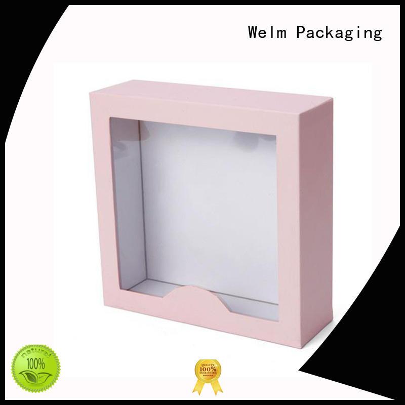 window custom packaging brown for toy