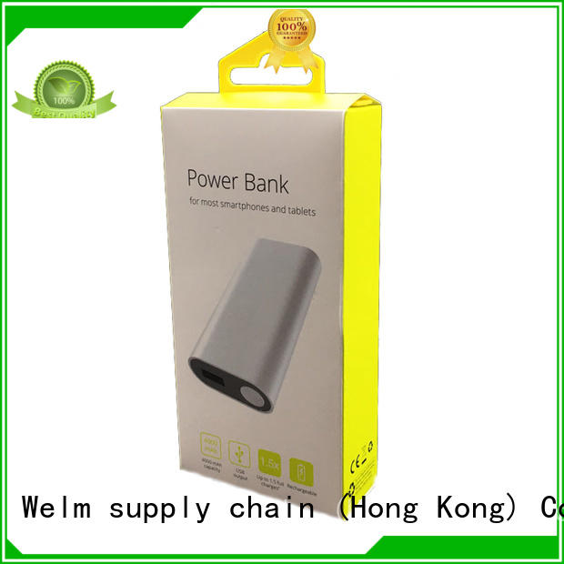 Welm screen electronics packaging design manufacturer for power bank