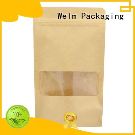 Welm recycle custom packaging with red vinyl sticker for food