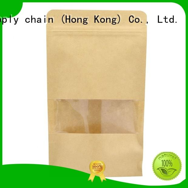 Welm stone small brown paper bags no handles logo for shopping