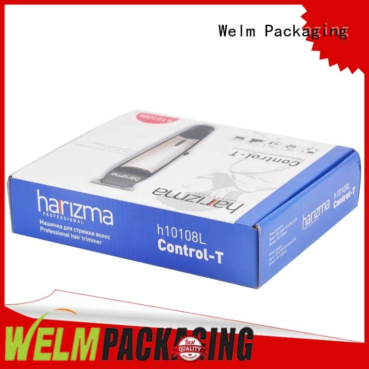Welm glossy nice packaging boxes manufacturer for men