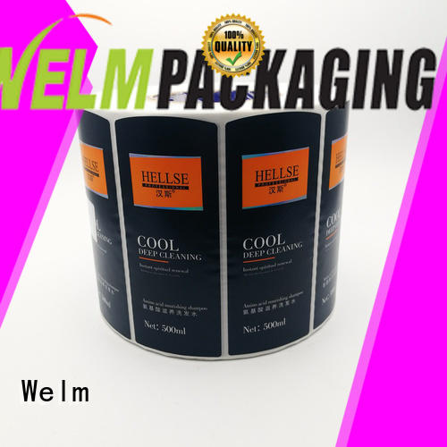heat sensitive stickers and labels glossy laminated label for bottle