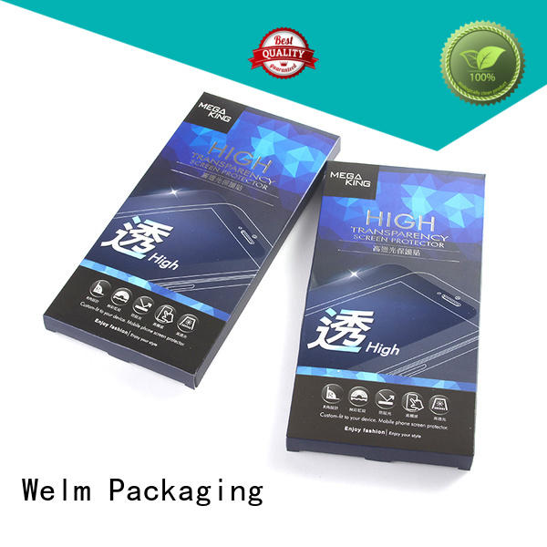 Welm electronics packaging design with pvc window for men