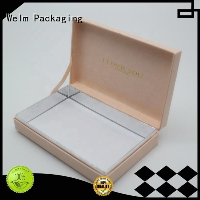 Welm luxury box packaging with window for necklace