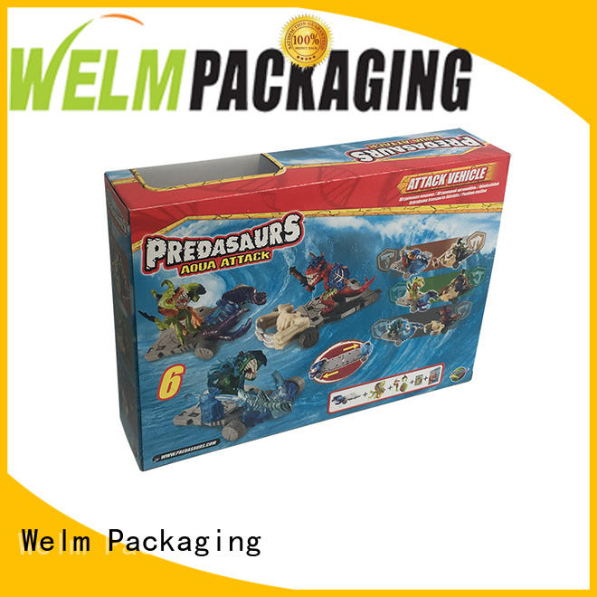 Color Printed Baby Toy Paper Packaging Box with PVC Window