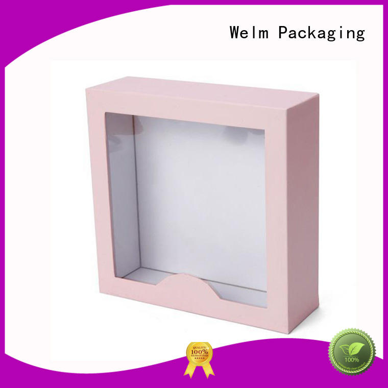 Welm cardboard gift boxes wholesale with window for necklace