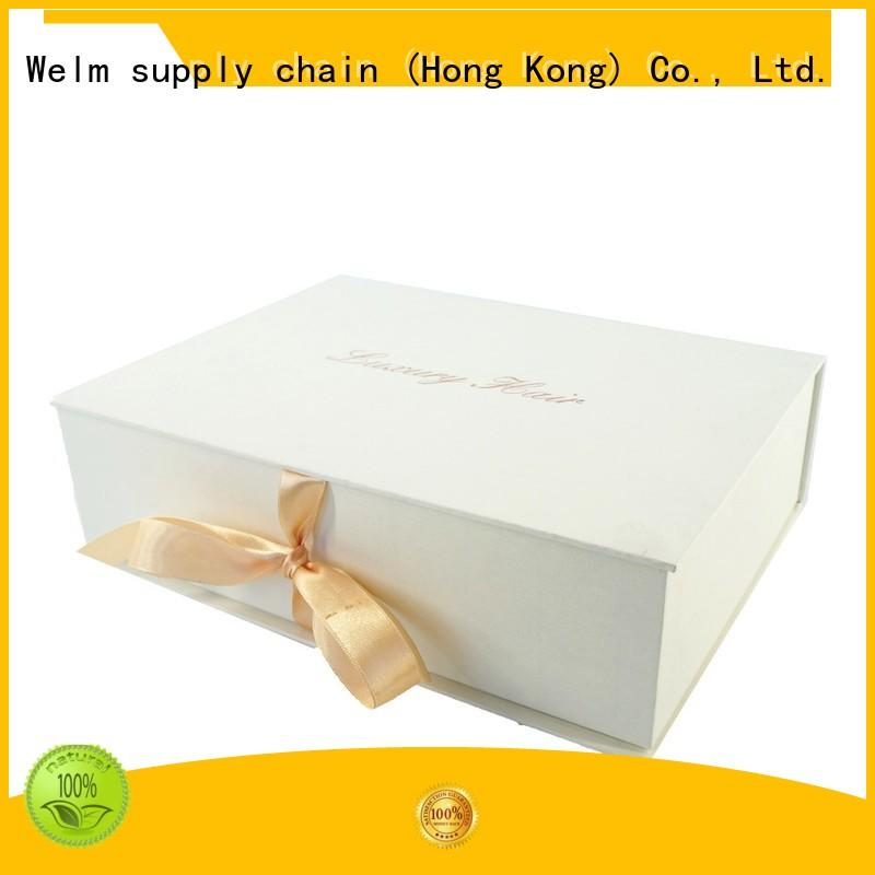 Welm handmade box packaging with ribbon for lip stick