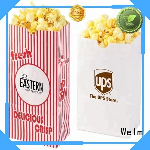 high quality logo printed greaseproof custom popcorn paper bag