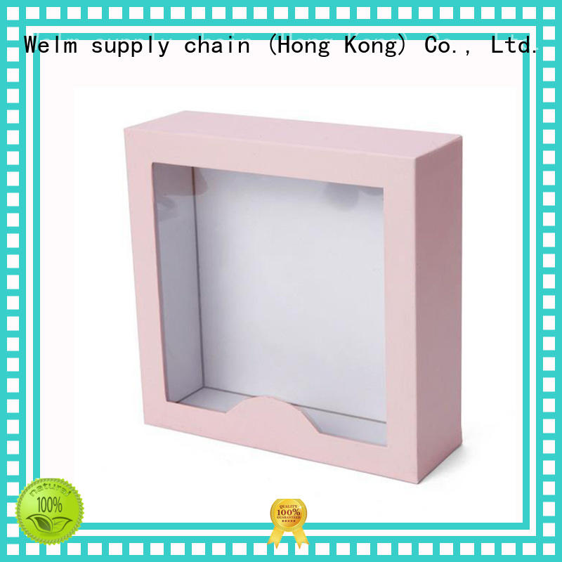 cardboard gift boxes wholesale pink windows for sale