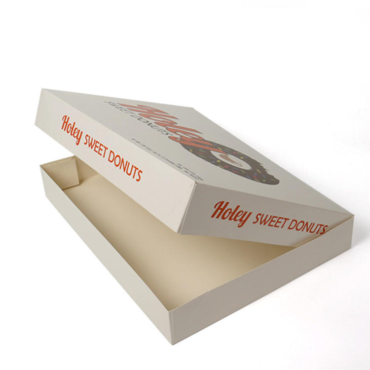 Customized food doughnut packaging box with color-printed food-grade materials-2