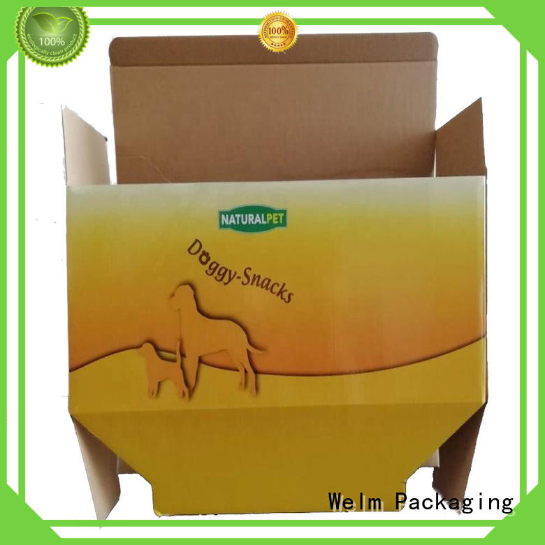 Welm board Food Packaging Box designed for pet food
