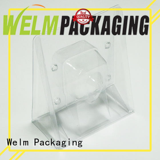 Welm jewelry custom packaging with red vinyl sticker for children toys